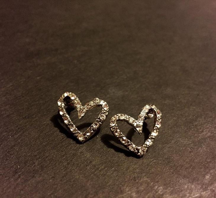 open heart earrings idea