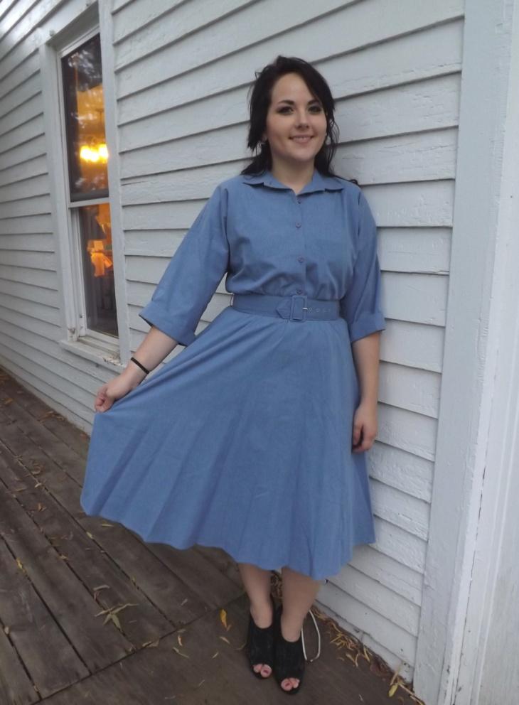 cotton chambray dress