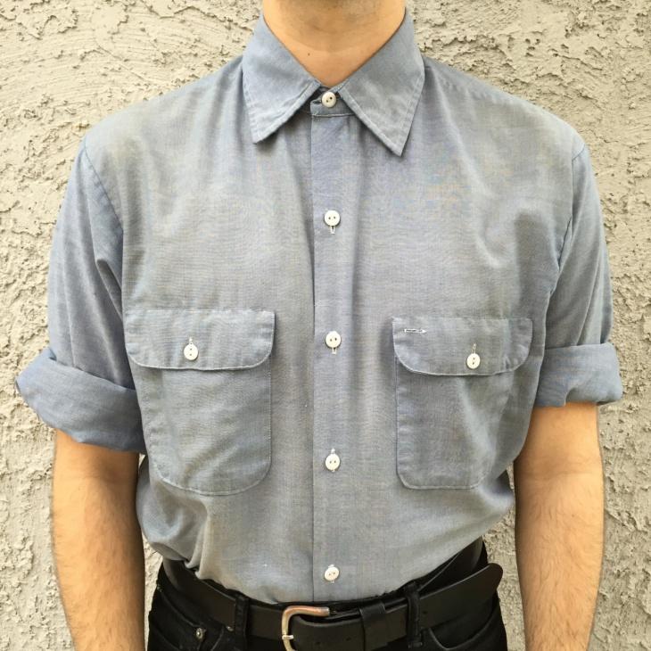 mens chambray dress shirt