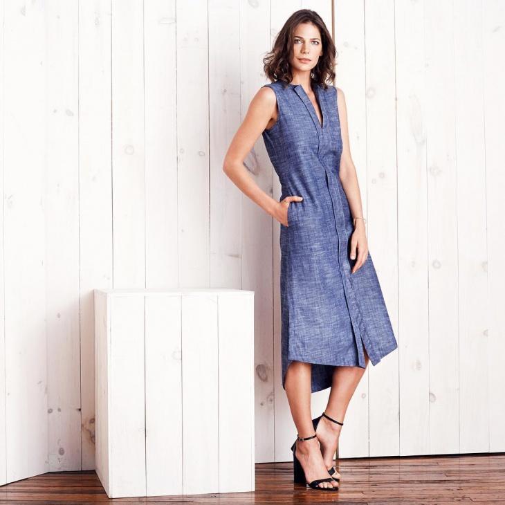 gorgeous chambray dress design