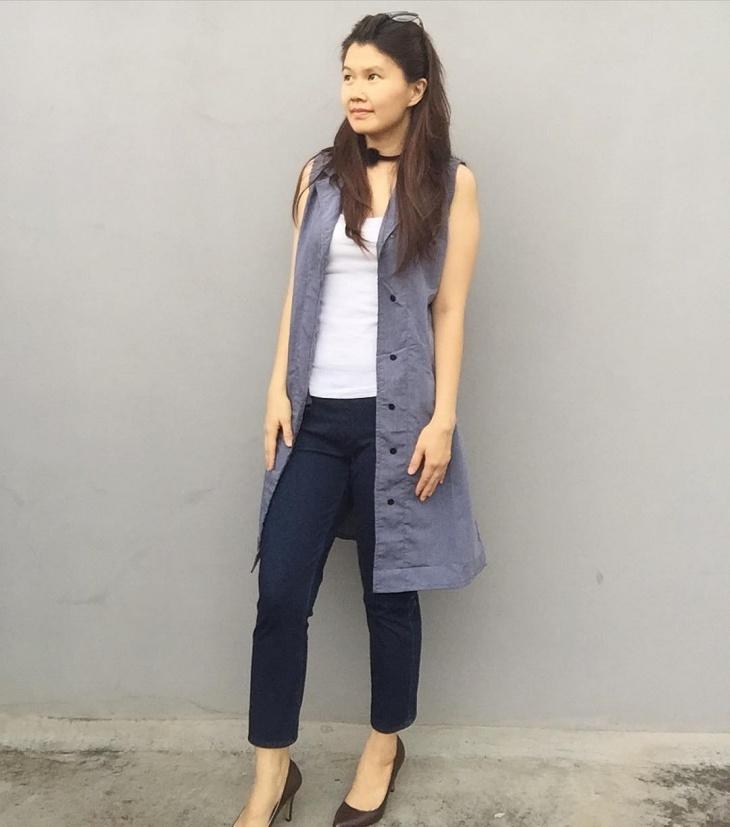 fashionbale chambray outfit
