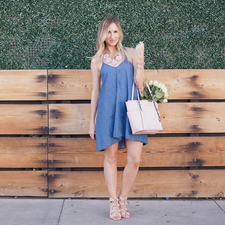 stylish chambray dress idea