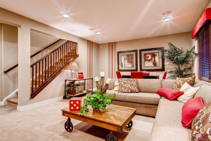 basement living room idea