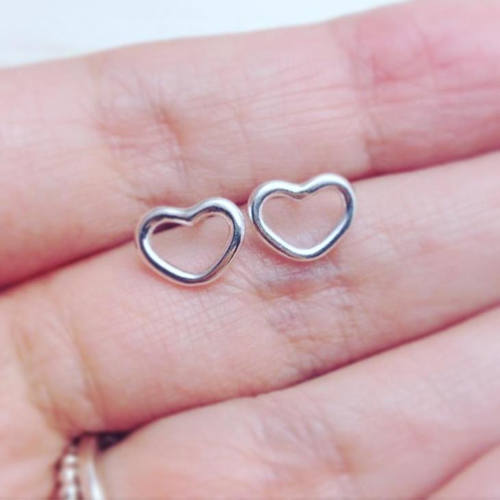 Ruby Open Heart Earrings