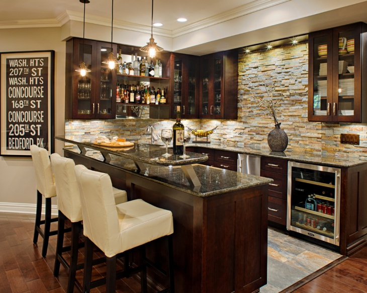 simple basement wet bar idea