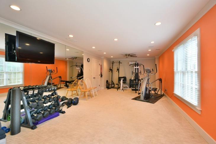 Basement Gym Remodeling