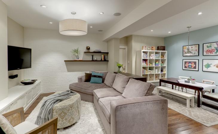 Basement Furnished Renovation Design