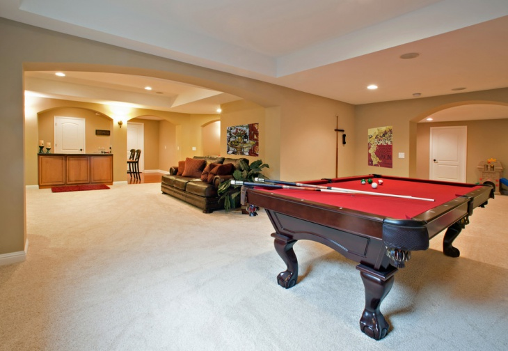 Spacious Basement Remodeling Idea