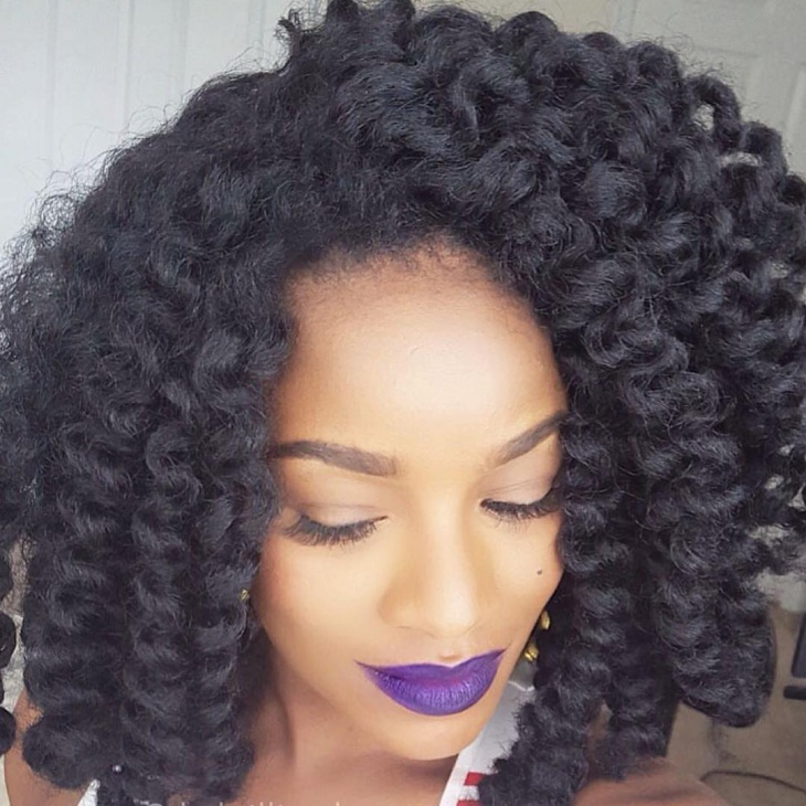 crochet fluffy twist hair