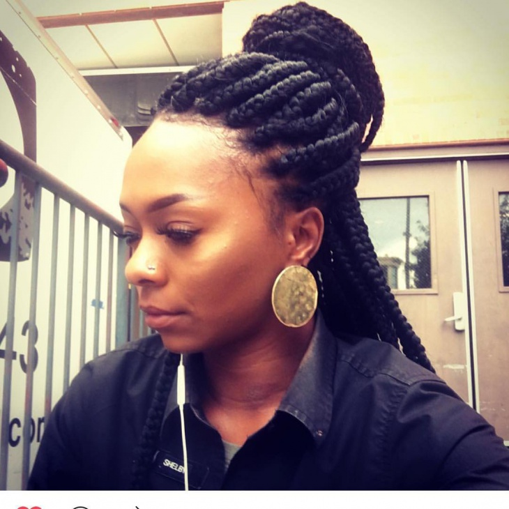 bun crochet twist hairstyle