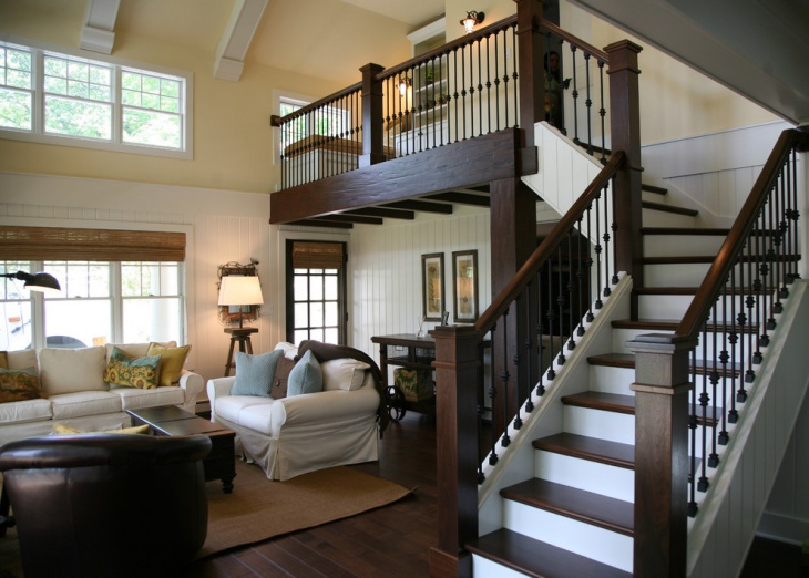 Charmant Modern Living Room Stairs Idea