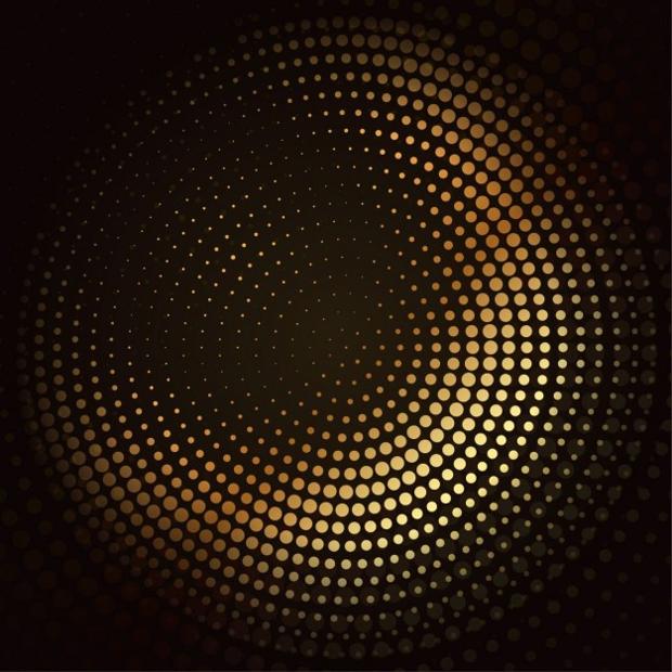 golden mosaic halftone vector