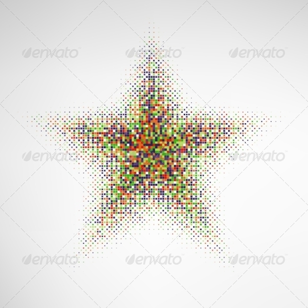 colorful halftone star vector backgrounds