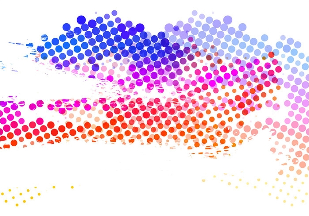 free colorful halftone vector