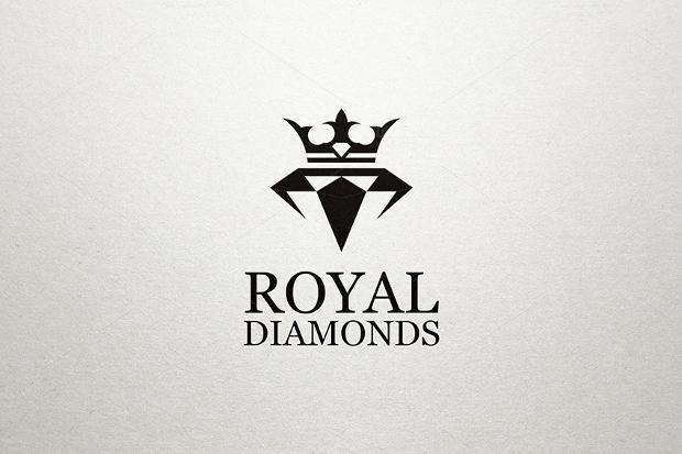 Royal Diamond Black and White Logo