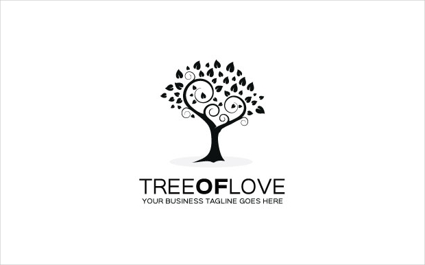 Tree-of-love Logo Template