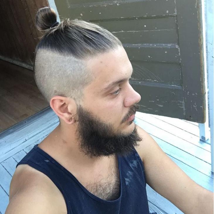 faded top men hair