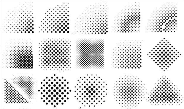 Set Of Halftone Vectors