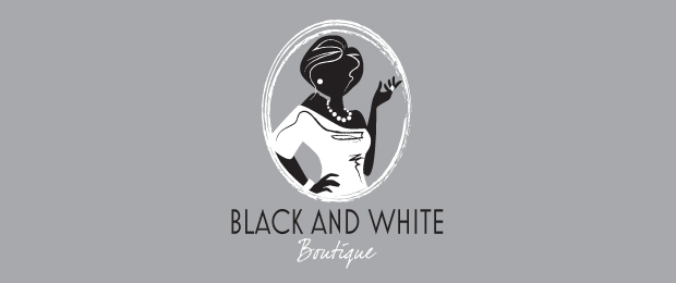 black and white boutique logo