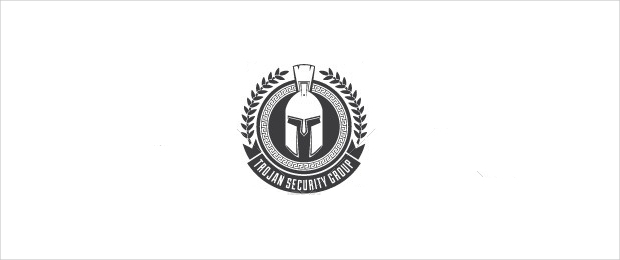 Trojan Security Group Black and White Logo