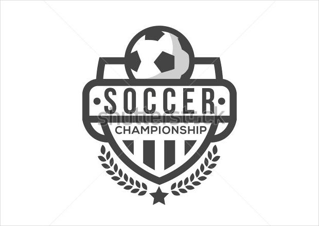 black and white soccer logo1