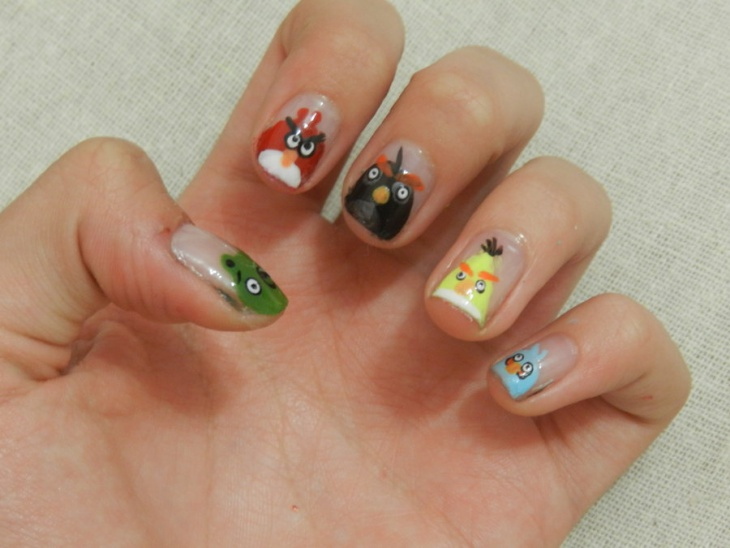 angry bird nail stickers