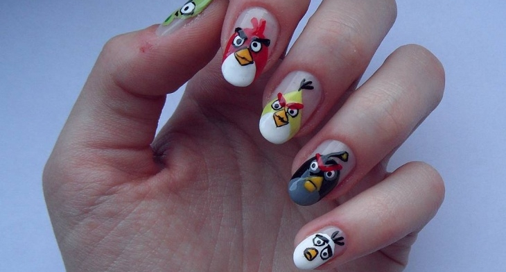 img - 19+ Angry Birds Nail Art Designs, Ideas Design Trends - Premium