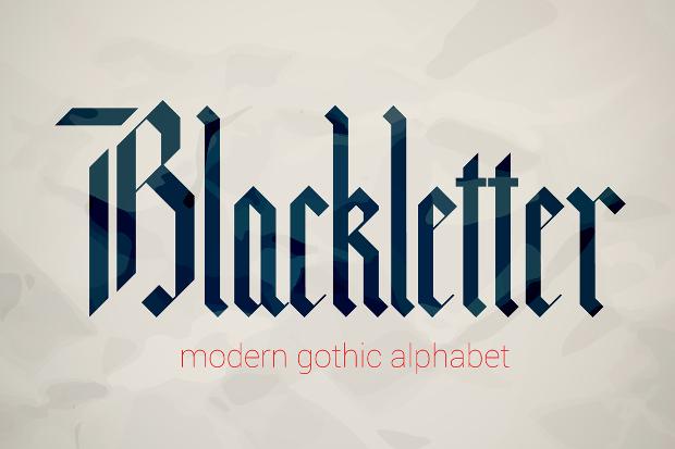 alphabet gothic style font