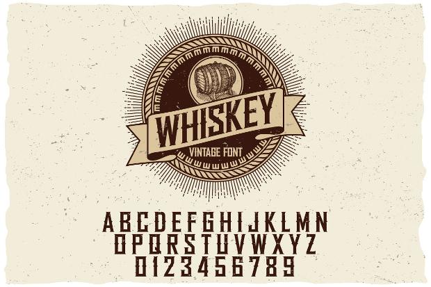 Whisky Vintage Alphabet Font