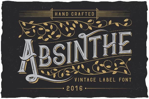 absinthe label typeface font