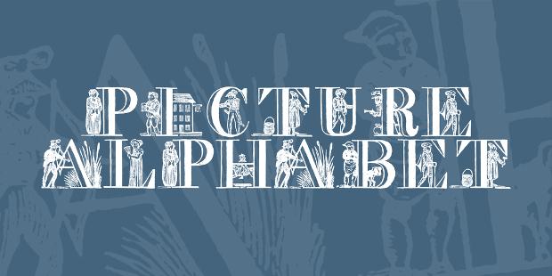 picture alphabet font