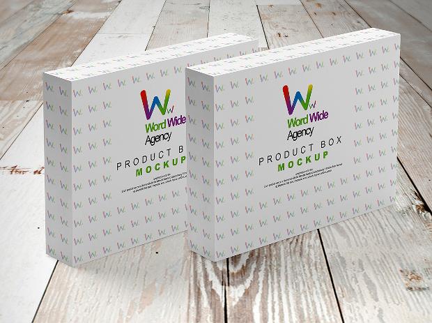 product box psd mockup design