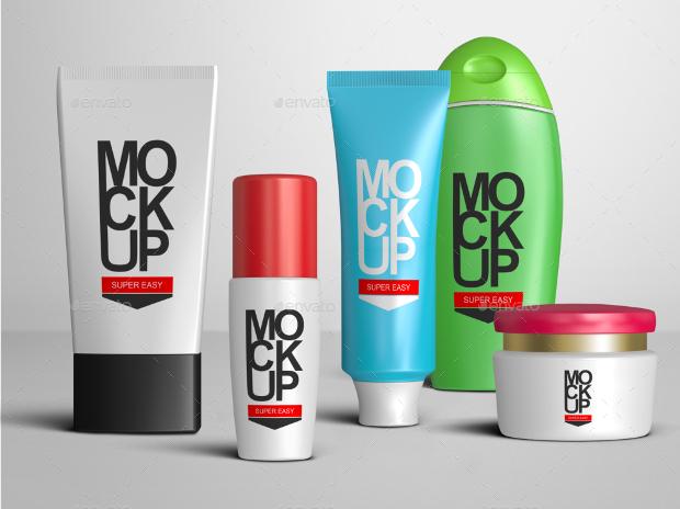 cosmetic package branding mockup