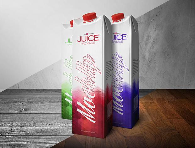 free juice package psd mockup