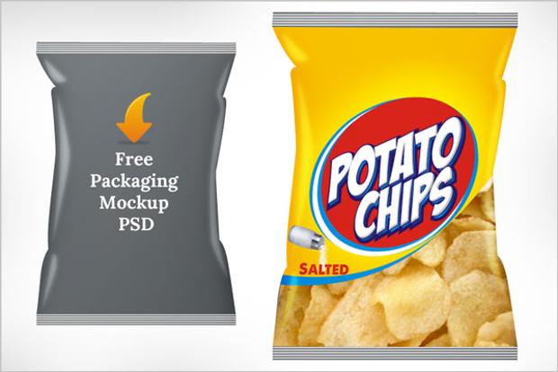 potato chips packaging mockup