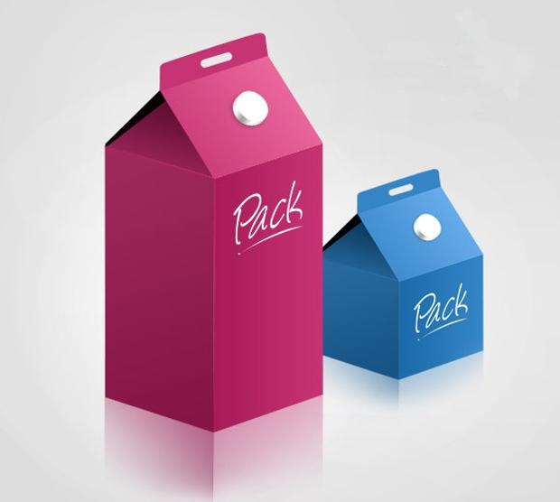 product packaging box mockup