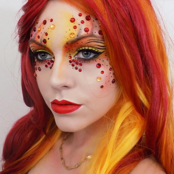 Fire Fairy Makeup Look