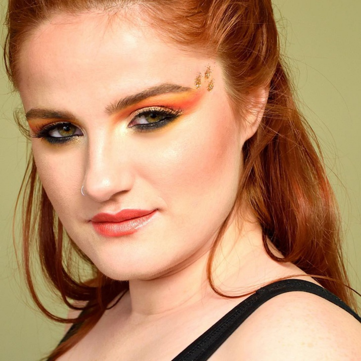 Flame Eye Makeup Idea