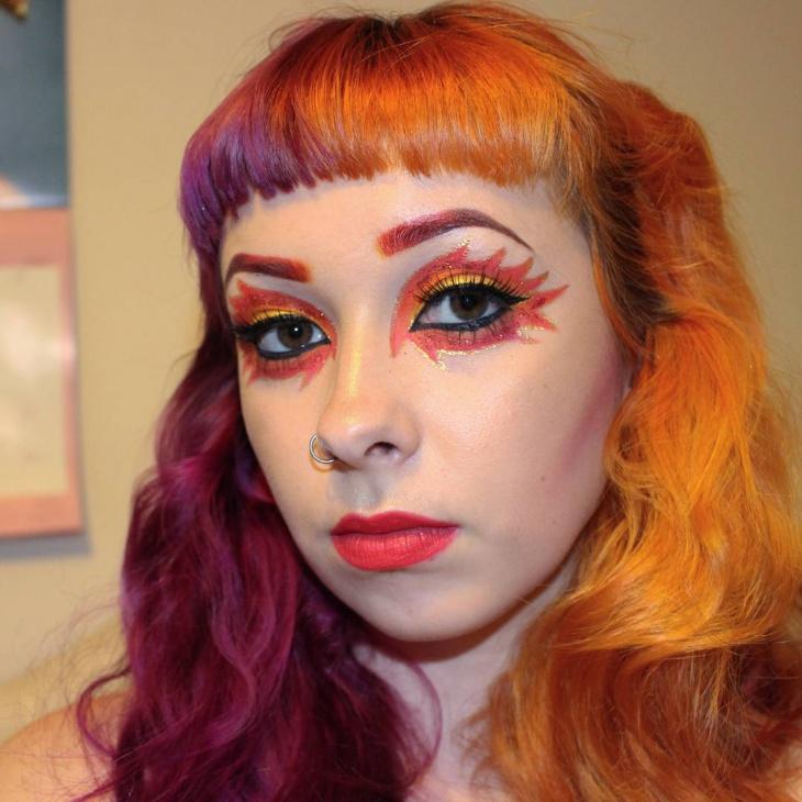 Autumn Flame Makeup