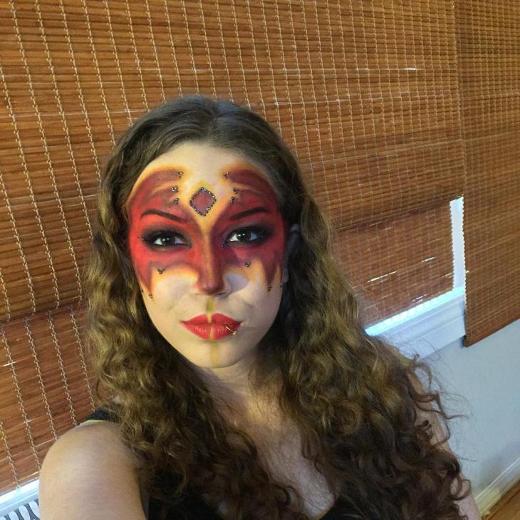 halloween fire makeup
