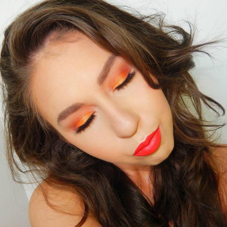 Fire Orange Eye Shadow