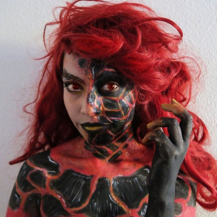 Scary Fire Makeup