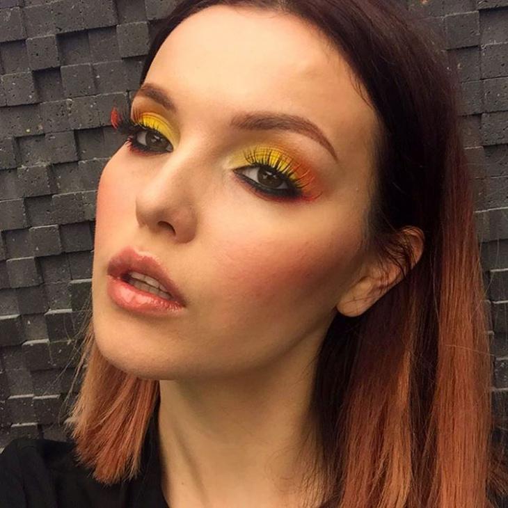 fire smokey eye makeup