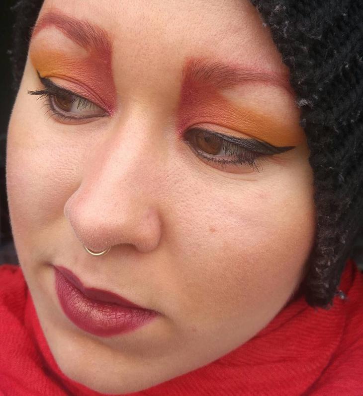 Pretty Flame Eye Makeup