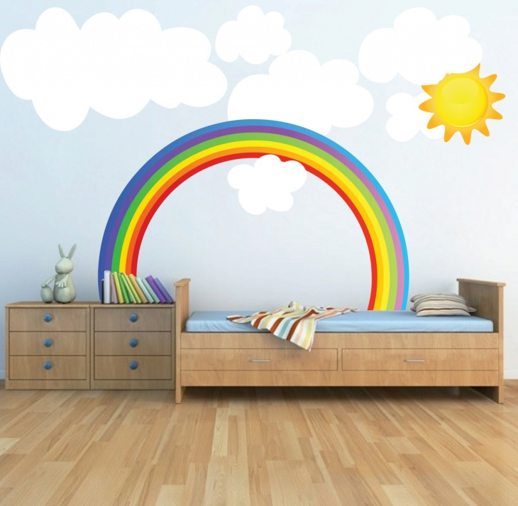 23 eclectic kids room interior designs decorating ideas for Children wall mural ideas