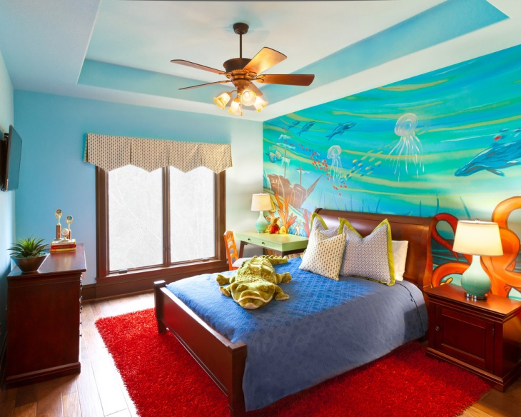 18 kids bedroom mural designs ideas design trends for Mural art designs for bedroom