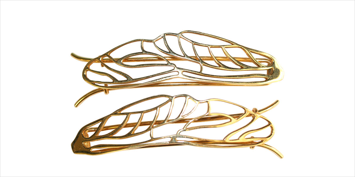 8. 18k Gold Plated Hair Clips