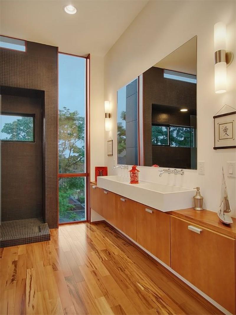 small rectangle bathroom design