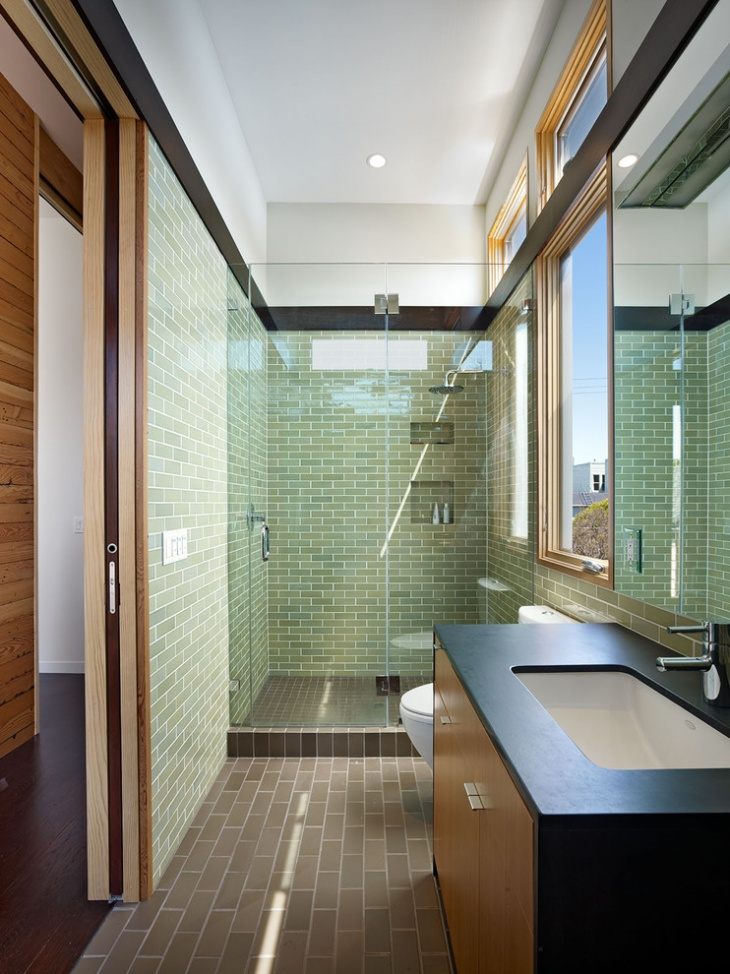 Rectangular Bathroom Tiles Design