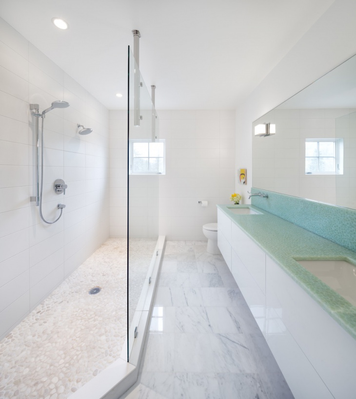 Contemporary Rectangular Bathroom